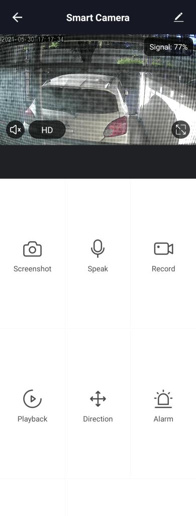 หน้าจอแอป Pando สำหรับดูภาพจากกล้อง Pando Smart Camera
