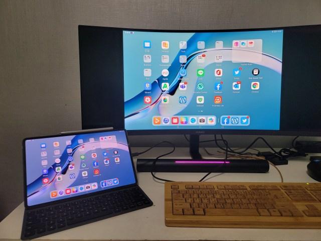 """ใช้จอ Huawei MateView GT ในการต่อกับแท็บเล็ต Huawei MatePad Pro 12.6"""""""
