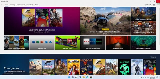 หน้าจอ Microsoft Store บน Windows 11