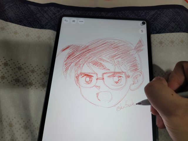 วาดรูปสเก็ตช์นักสืบจิ๋วโคนันด้วย HUAWEI MatePad Pro 10.8-inch