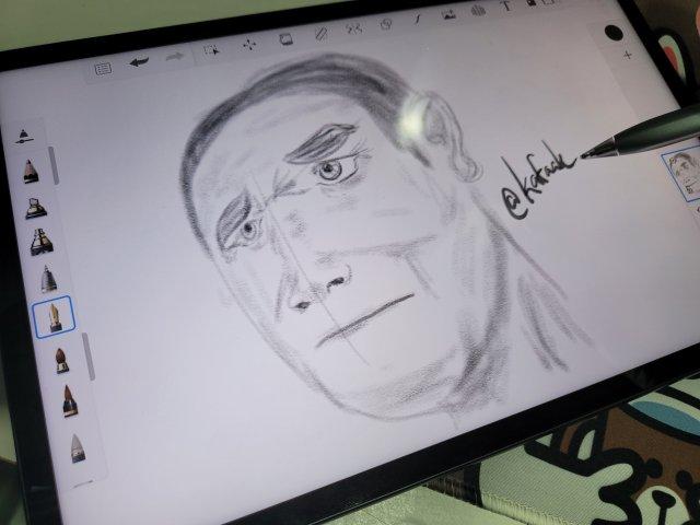 สเก็ตช์ภาพด้วย HUAWEI MatePad 11 และแอป AutoDesk SketchBook