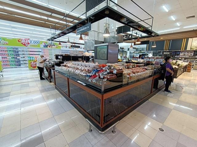 ภาพมุมขายอาหารพร้อมรับประทานในห้างบิ๊กซี ถ่ายที่ระยะ 0.6x