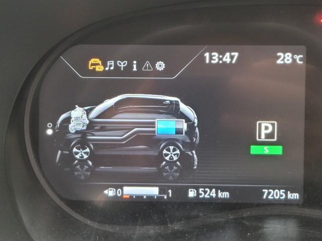 หน้าจอแดชบอร์ด แสดงข้อมูลการไหลเวียนของพลังงานในรถยนต์