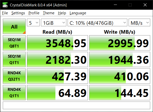 ทดสอบความเร็วของ Storage ของ ASUS ZenBook Duo 14 UX482EA