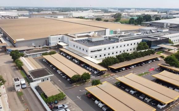 ภาพมุมสูงของอาคารสำนักงานของ Western Digital