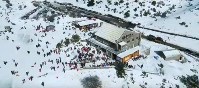 Βίντεο από το Χιονοδρομικό κέντρο Μαινάλου