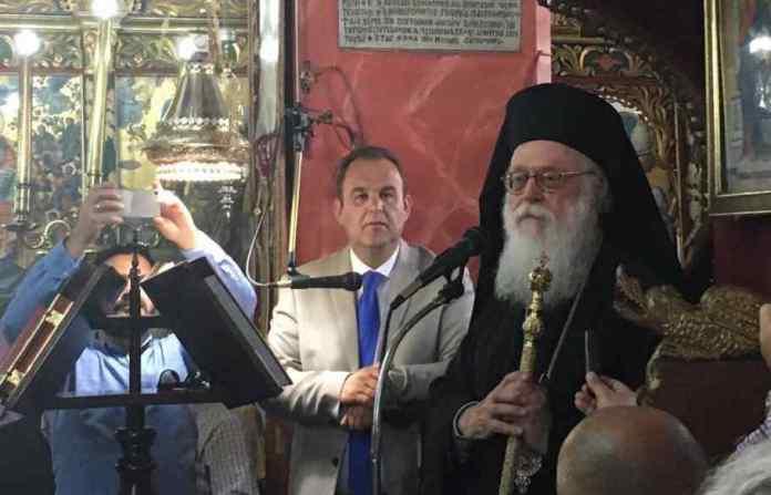 Ο Αρχιεπίσκοπος Τιράνων και πάσης Αλβανίας Αναστάσιος στη Στεμνίτσα