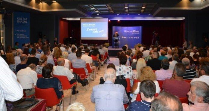Μηνύματα νίκης στην κεντρική προεκλογική ομιλία του Κώστα Βλάση στην Τρίπολη