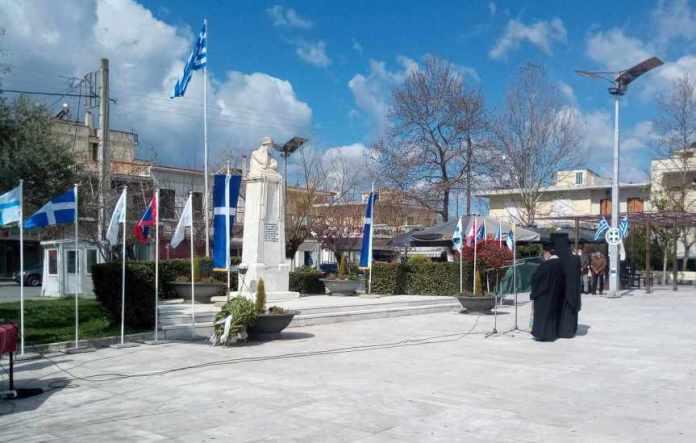 Ο εορτασμός της 25ης Μαρτίου στην Μεγαλόπολη
