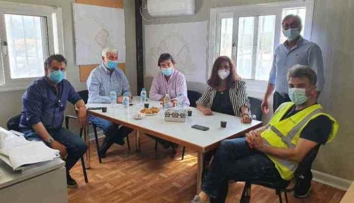 Επίσκεψη Τατούλη στο χώρο της κατασκευής της μονάδας διαχείρισης των απορριμμάτων στην Παλαιόχουνη