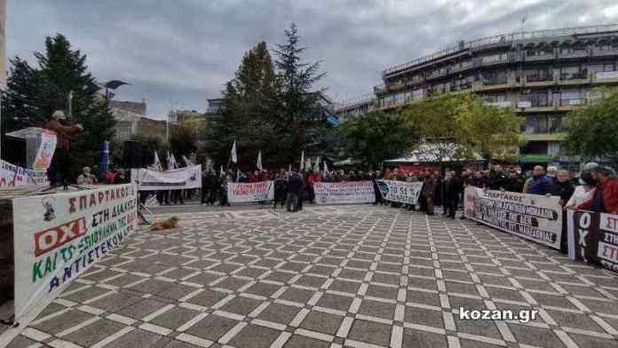 Δυναμικό συλλαλητήριο στην Πτολεμαΐδα ενάντια στην ιδιωτικοποίηση της ΔΕΗ