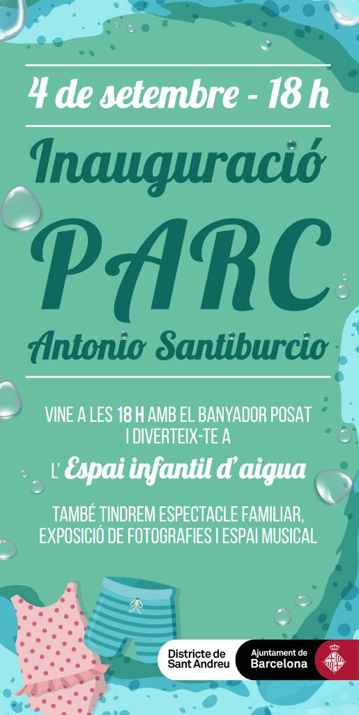 Cartell Parque Antonio Santiburcio - Trinitat Vella | Barcelona