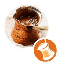Bilde ibrik som benyttes til tyrkisk kaffe