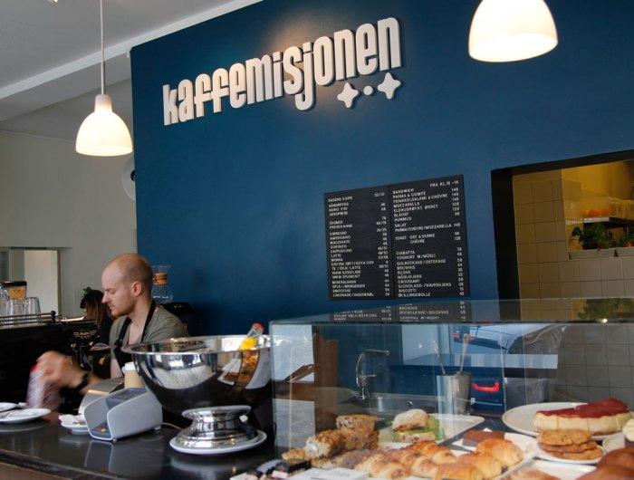 Bilde fra kaffebar i Bergen