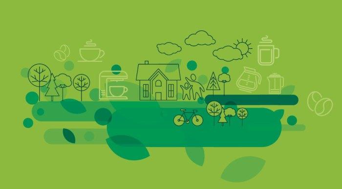Illustrasjon til en sak om grønne kaffeløsninger