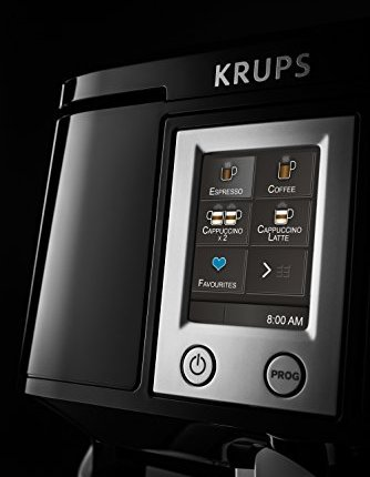 Krups-EA8808-Kaffeevollautomat-Two-in-One-Touch-Funktion-15-bar-Touchscreen-Farbdisplay-Edelstahl-Schwarz-0-6