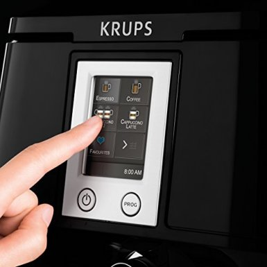 Krups-EA8808-Kaffeevollautomat-Two-in-One-Touch-Funktion-15-bar-Touchscreen-Farbdisplay-Edelstahl-Schwarz-0-8
