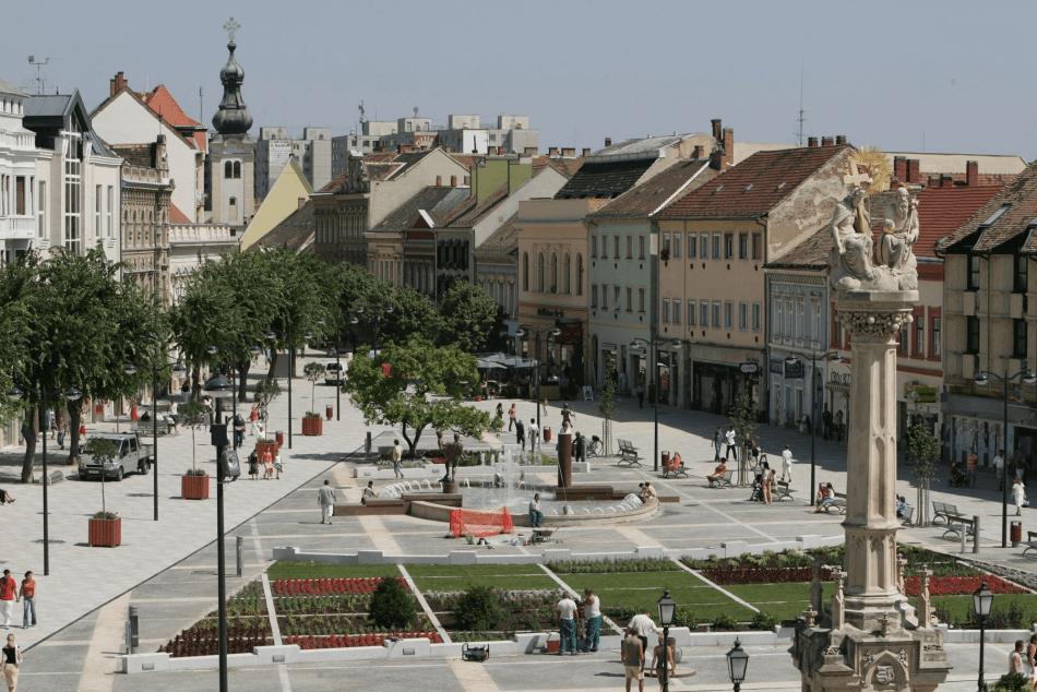 The main square in Szombathely