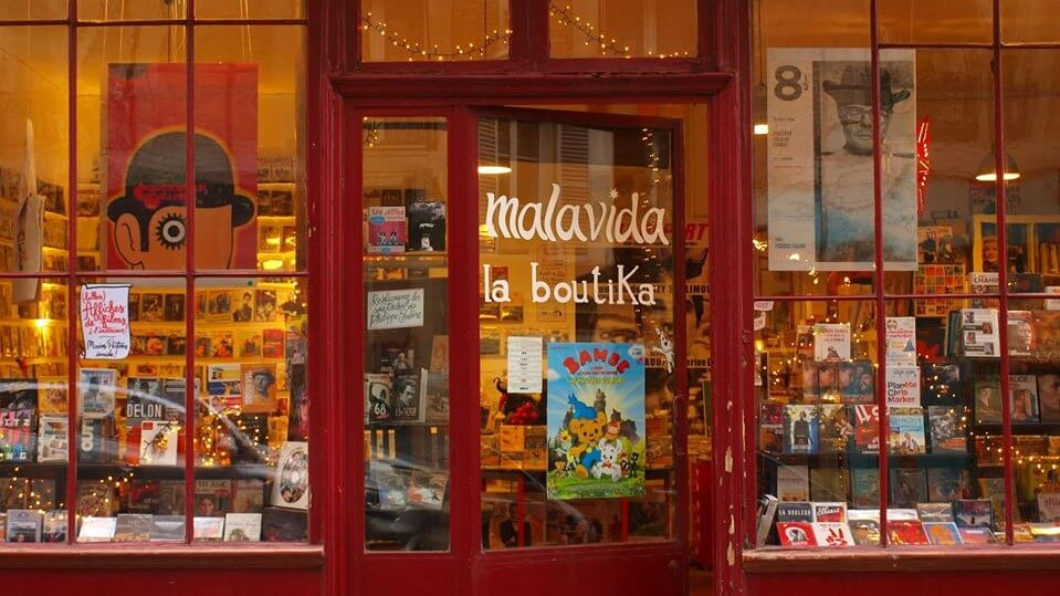 Front window of Malavida's store in Paris