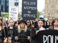Polish women march in Warsaw to protest against an abortion ban