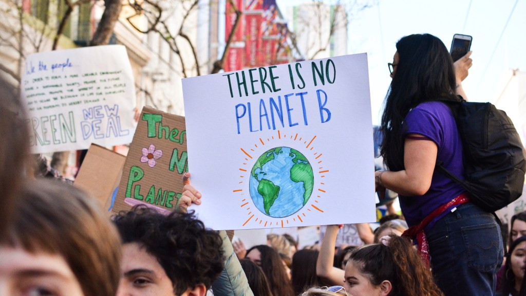 "Young protesters demand immediate climate action and a ""Green New Deal"""
