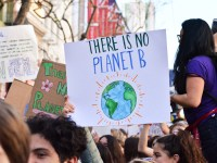 """Young protesters demand immediate climate action and a """"Green New Deal"""""""