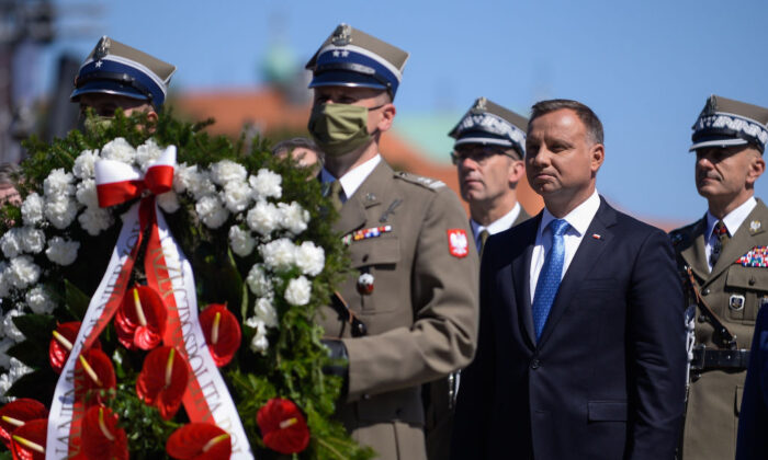 US Mike Pompeo Visits Poland On Army Day With President Duda