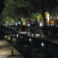 Canal St. Martin at night