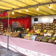 A wider look at the stall with all its offerings.