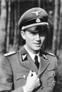 "General Walter Schellenberg, nicknamed ""Hitler's Spymaster,"" Chief of SS intelligence, the Sicherheitsdienst, and Coco's spy boss. Source: Wikipedia"