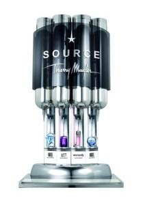 Mugler's The Source dispenser. Photo via Fragrantica.