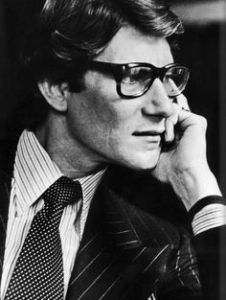 Yves St. Laurent. Photo via Pinterest.