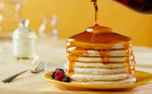 Maple syrup on pancakes. Source: Epicurious.com