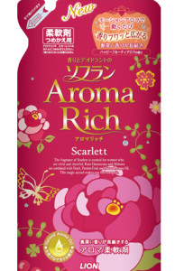 "The Lion company's ""aroma rich"" fabric softener. Source: global.rakuten.com"
