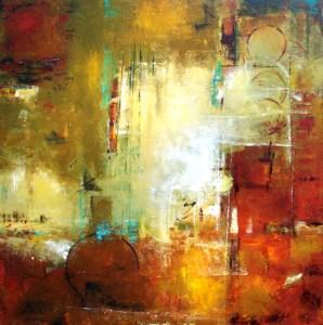 """""""Bordeaux 2,"""" painting by Elizabeth Chapman. Source: dailypaintersabstract.blogspot.com"""