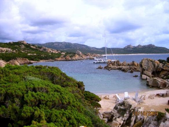 A private beach at Domaine de Murtoli, Corsica. Photo: my own.