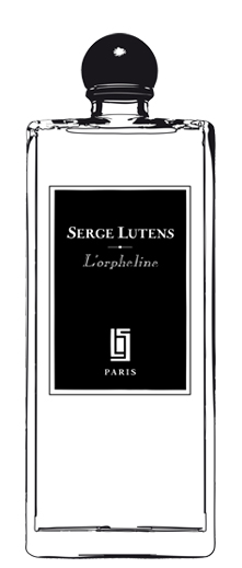 L'Orpheline, Regular bottle, black-label for Haute Concentration. Source: Serge Lutens.