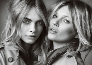'My Burberry' campaign starring Cara Delevingne and Kate Moss. Photo: Mario Testino. Source: Businessoffashion.com