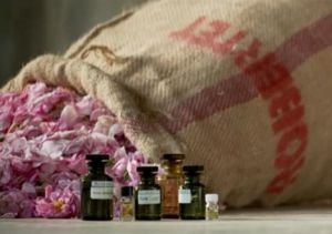 Robertet roses and essential oils. Photo via Pinterest.