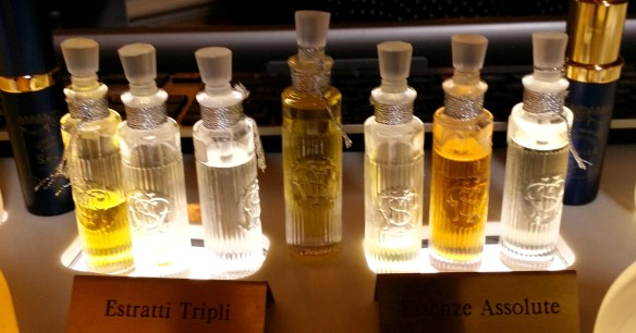 The concentrated perfume oils. Photo: my own.