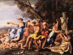 """Nicolas Poussin, """"Bacchanal before a Statue of Pan,"""" 1631. Source: artble.com"""
