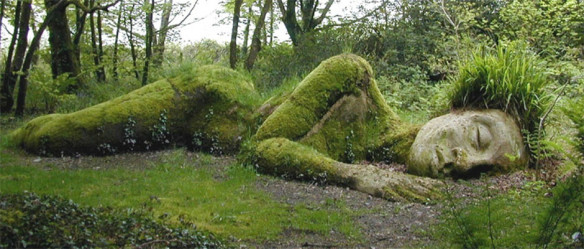 """The Mud Maid"" of the Lost Gardens of Heligan, Cornwall. Source: essentialhotels.co.uk"