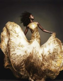 Photo: Vogue Japan, Alexander McQueen gown. Source: Pinterest.
