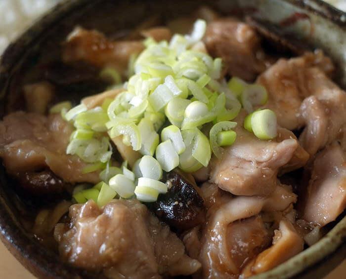 鶏肉と椎茸の中華蒸し