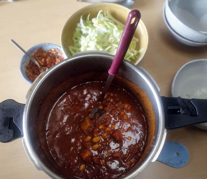 カスレ風豚肉と白いんげん豆の煮込み