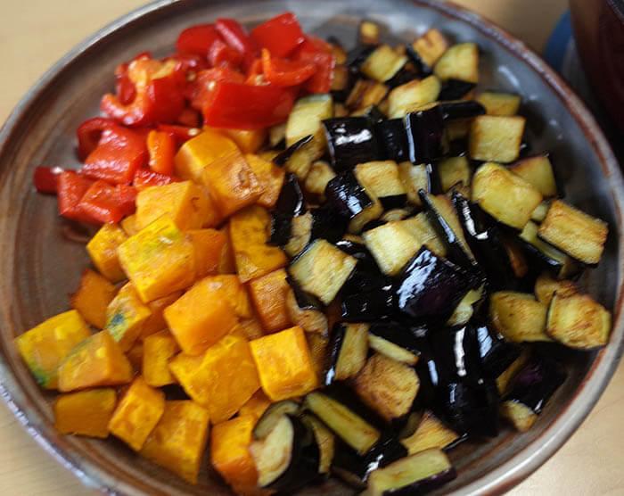 素揚げした三種の野菜