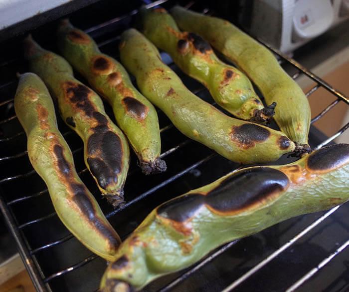 筍とソラマメのパスタ