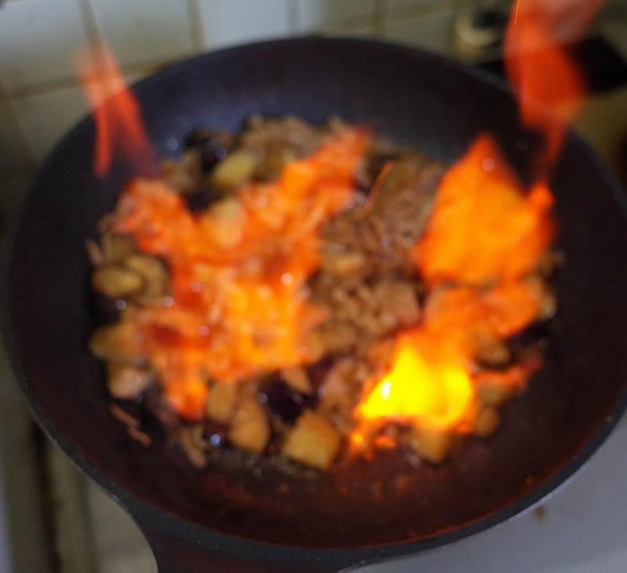 豚肉と茄子のカレー