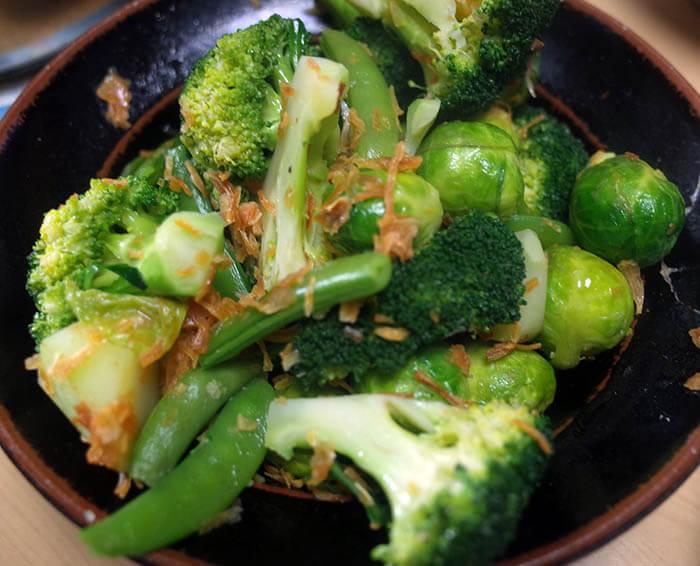 ビーフシチュー付け合わせの緑野菜