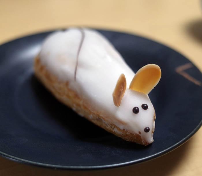 ネズミのシュークリーム